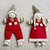 Dancer Ornament - 2pcs Cute Girl Angel Christmas Decorative Tree Pendant Ornament Decor Xmas Year Hanging - Kindergarten Claus Claus Tree Decor Angel Deer Angel Angel Angel Christmas Carouse
