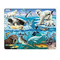 Larsen FH11 Wildlife on and Around an Arctic Iceberg, Jigsaw Puzzle with 75 Pieces