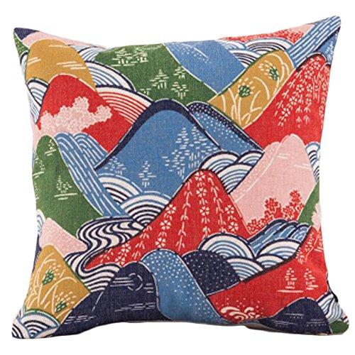 Black Temptation Style Japonais Coussin d'oreiller Confortable pour la Maison/Sushi Restaurant 45x45cm -A22