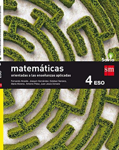 Matemáticas orientadas a las ciencias aplicadas 4 ESO Savia