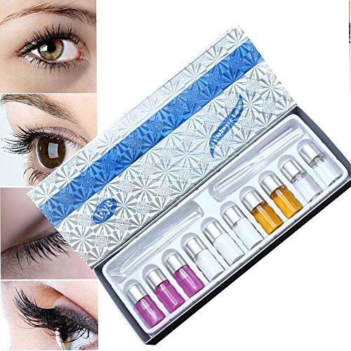 MLMSY Eyelash Perming Curling Kit Set Wave Lotion Liquid Eye Lashes Curler Tool Suitable for Long Eyelash or Short Eyelash (1 Set) (1 Set)