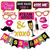 #9: Wobbox Bachelorette Party Photo Booth Props and Party Banner