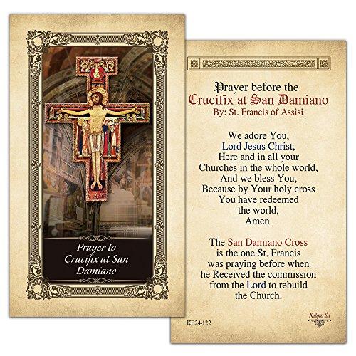 Gebet zu Kruzifix bei San Damiano laminiert Gebet Karte–25Stück