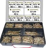 750 tlg. Schraubensortiment, Torx Antrieb, 4,0 x 40 -- 5,0 x 100 mm, Spanplattenschrauben im Koffer