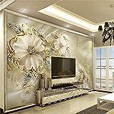 Wapel 3D Wand Papier Marmor Diamant Schmuck Rose Tv Hintergrund Fototapete Tapeten Für Wohnzimmer Contact Paper Home Decor 250Cmx175 Cm