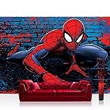 Fototapete 254x184cm PREMIUM Wand Foto Tapete Wand Bild Papiertapete - Marvel - SPIDERMAN Tapete Marvel Spiderman Cartoon rot - no. 3374