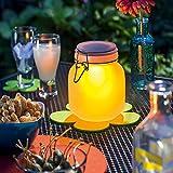 Esotec Solarleuchte Einmachglas Satin Glas, Lichtfarbe wählbar 102078 - 2