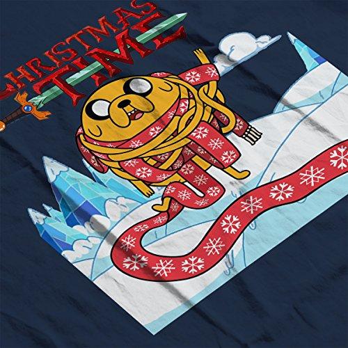 Adventure Christmas Time Jake Scarf Ice World Cartoon Network Women's Vest Navy blue