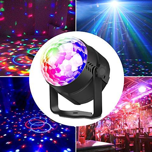 UBEGOOD LED Discokugel, Disco Lichteffekte Discokugel LED Party Lampe Discolicht Partylicht LED Disco Licht Disco Bühnenbeleuchtung Dj Licht Disco Lampe Partybeleuchtung für Weihnachten, Bar