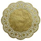 Kunze Tortenspitze Rund, Geprägt, 100 Stück (Ø 26.7 cm), Kaschiertes Papier, Gold