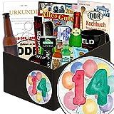 14 Hochzeitstag Geschenk | Geschenkset | 14. Geburtstagsgeschenk | mit Erichs Rache, Held der Arbeit Flaschenöffner und mehr