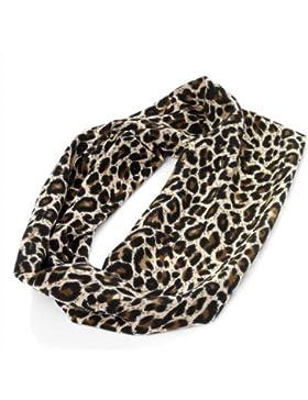 Diseño de estampado de leopardo para la cabeza.