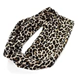 Ladies, Girls, brown tones Leopard Print Head Wrap, Stretchy Head band.