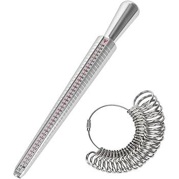 Afufu Ringgrössenmesser, 26 Stück Ringstock Ringgröße Ringmaß Dorn ...