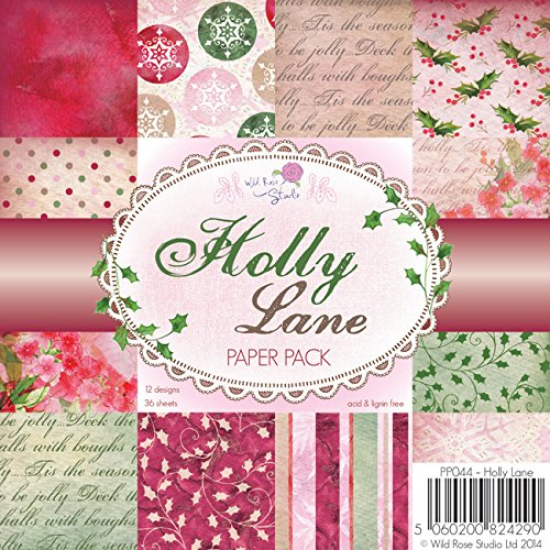 Wild Rose Studio 15,2x 15,2cm Papier Pack, Holly Lane Holly Lane