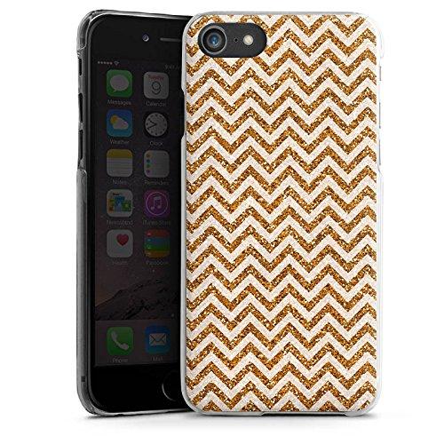 Apple iPhone X Silikon Hülle Case Schutzhülle Zickzack Muster Orange Hard Case transparent