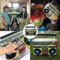Yojoloin 10 STÜCKE Jumbo Inflatables Gitarre Saxophon Mikrofon Boom Box Musikinstrumente Zubehör Für Party Supplies Party Favors Ballons Zufällige Farbe (10 STÜCKE)