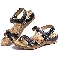 Sandales Compensees Femme Confortable Mules Été Sabots à Enfiler Plateforme Plates Chaussures Bride Cheville Vintage…