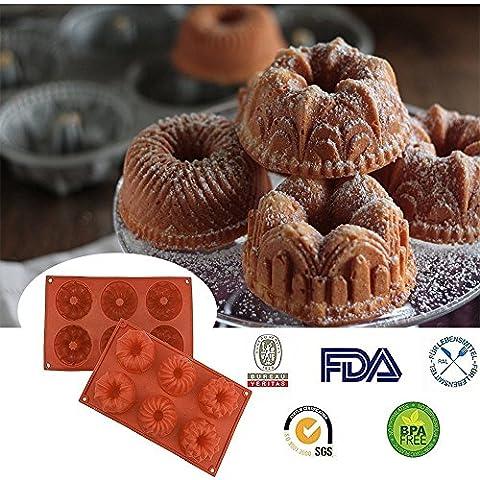 Silconce Moule à gâteau, Didadi antiadhésif Silicone de qualité alimentaire gâteau Pain Moule pour Thanksgiving Chocolat Jelly Bonbons cuisson Moule Moule Moule