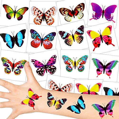 - Schmetterling Tattoos - Set ┃ NEU ┃ Party Tattoos ┃ Kindergeburtstag ┃ Mitgebsel ┃36 Tattoos ()