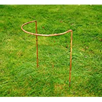 """GAP Garden Products 15"""" x 34"""" Border Support bare metal ready 2 rust (pack of 6)"""