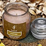 Maxime Candles Coffee Scented Glass Jar Candle