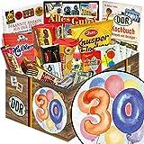 30. Geburtstag | DDR Produkte | mit Viba Nougat Stange, Puffreis Schokolade, Kalter Hund Blister uvm | GRATIS Aufkleber - 30. Geburtstag