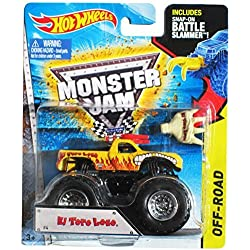 Hot Wheels Off-Road Monster Jam #4 Yellow El Toro Loco w/ Snap-on Battle Slammer by Hot Wheels
