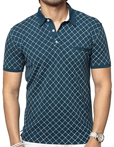 Zeyo Men's Cotton Classic Polo Regular Fit Half Sleeve T Shirts with...