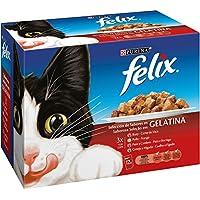 Purina Felix Selección de Carnes en Gelatina pack surtido sobres 12x100g