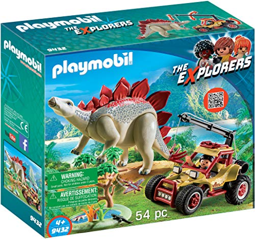 Playmobil-9432 Vehículo Explorador Estegosaurio