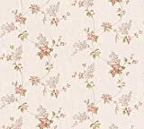 A.S. Création Satintapete Concerto 2 Tapete floral 10,05 m x 0,53 m beige bunt Made in Germany 959283 95928-3