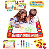 CJbrother Doodle del Aqua Niños 'Toy Juguetes Dibujo Mat Magic Pen Educativa 1 Mat + 4 Wate + 1 EVA Graphic