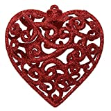 Christmas Tree Decoration Fashion Hollow Heart Shape Glitter Ornament