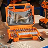 VonHaus 128pc Drill Bit Set & Carry Case, Includes Universal HSS Drill Bits, Tungsten Carbide Tipped Masonry Drill Bits & Wood Drilling Bits - Diameters From 1.5mm to 10mm