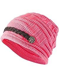 c19518c2280c3 Vellette Gorros de punto Sombreros y gorras Crochet las mujeres del  invierno gorro de lana Tejer