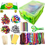 Kids Arts & Crafts Supplies Kit for Age 4 5 6 7 8 9 year olds with Storage