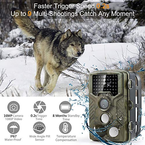 Zoom IMG-1 fotocamera caccia coolife 16mp 1080p