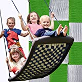 Große Mehrkindschaukel STANDARD silber/grün für 4 Kinder, 136 x 66 cm