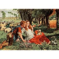 William Holman Hunt – The Hireling Shepherd Holman Hunt 1908 Fine Art Print (60.96 x 91.44 cm)