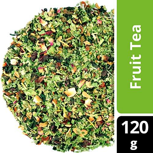 amapodo Früchtetee lose 120 g - Früchte Tee, Hibiskus-Blüten, Apfel, Brombeerblätter, Geschenk, Diät, Detox Kur, abnehmen, Körper entgiften, Premium Qualität, 100% Natürlich ohne Zucker Zusatz
