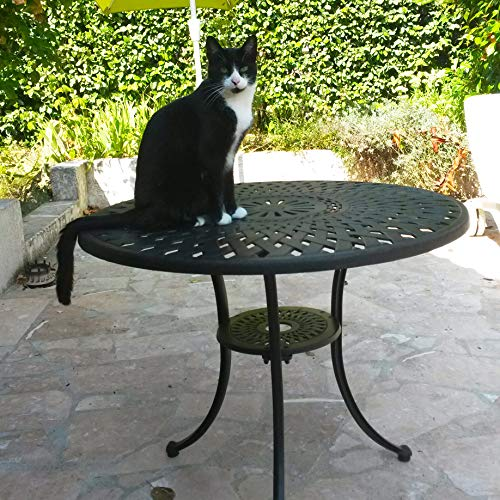 Lazy Susan – MIA 90 cm Gartentisch mit 2 Stühlen - 9