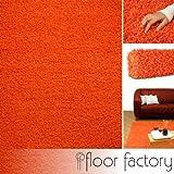 Alfombra de Pelo Largo Candy naranja 120x170 cm - alfombra económica al mejor precio