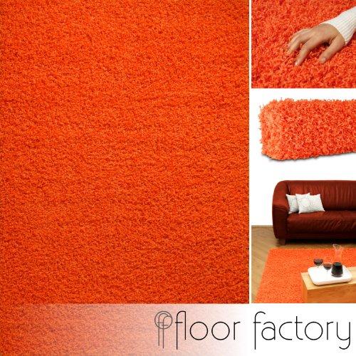floor factory Alfombra de Pelo Largo Candy naranja 120x170 cm - alfomb