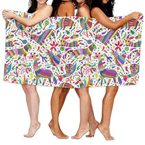 xcvgcxcvasda Badetuch, Soft, Quick Dry, Rainbow Animal Holiday Party Art Badetuch, Soft, Quick Dry, Adult Microfiber Towel 31 X 51 Inch Bath Sheet