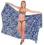 LA LEELA Super Doux Likre Tropical caribbaen paréo paréo Bikini 88x39 Pouces Bleu