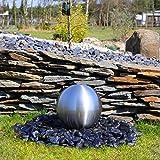 Kugel aus Edelstahl matt gebürstet für Gartenbrunnens Edelstahlkugel 30cm Springbrunnen Wasserspiel Brunnen Garten