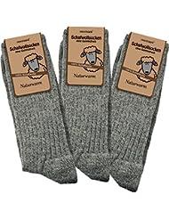 3 Paar Schafwollsocken - Socken aus 100% Schafwolle - naturwarm