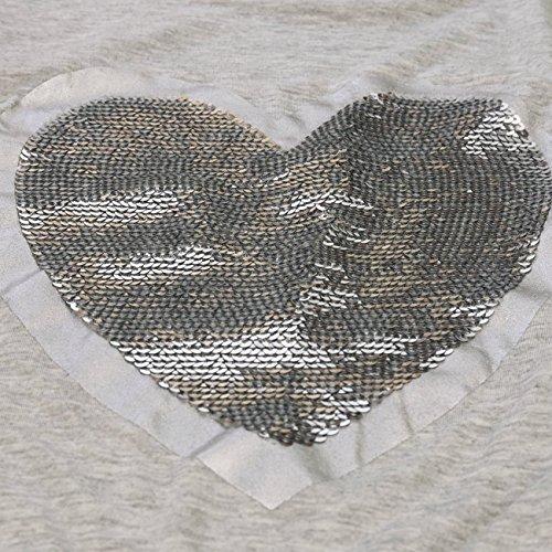 WanYang Donna Lustrino Maglia Camicetta Manica Manica Lunga T-shirt Tops Grigio