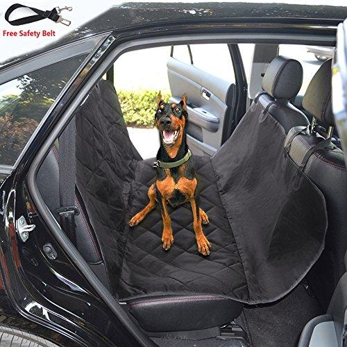 Jasonwell Wasserdichte Hund Sitzbezüge für Autos, gesteppte 600D für Hund Auto Sitzbezug mit Rutschfeste Unterlage für Leder und Stoff der hinteren Sitze in PKW, LKW und Geländewagen